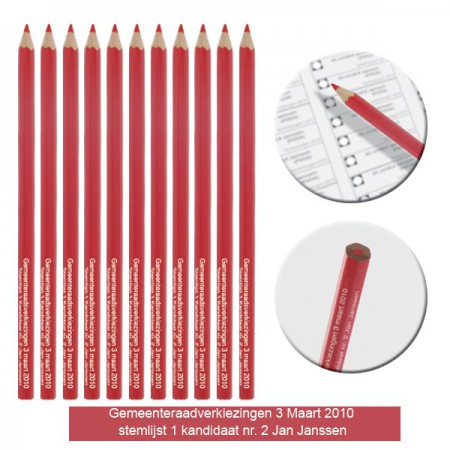 Rode stempotloden Rood potlood