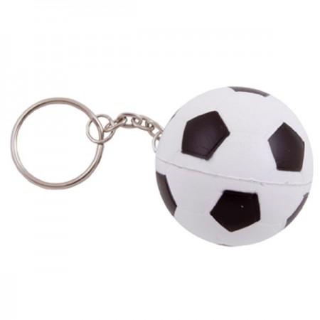 Sleutelhanger met anti stress voetbal