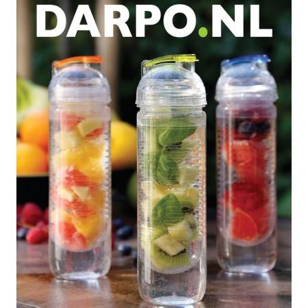 Waterfles met infuser voor fruit 500ml