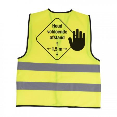 Veiligheidshesje - Houd afstand 1.5m - voorraad