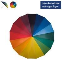 Regenboog paraplu - stormparaplu - 16 kleuren