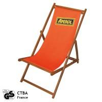 Bedrukte houten strandstoel