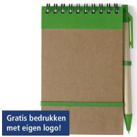 Eco notitieboekje met balpen