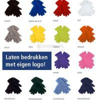 Fleece handschoenen - bedrukken - borduren