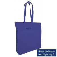 Katoenen draagtas blokbodem - big shopper - boodschappentas