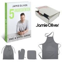 Jamie Oliver kookboek 5 ingrediënten en keukenset