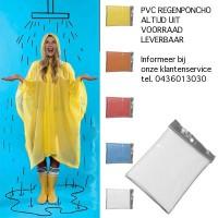 PVC Regenjas Poncho Regenponcho transparant.