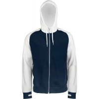 TWEEKLEURIG HOODED SWEATER MET RITS