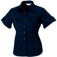 Ladies' Roll Sleeve Shirt - Short Sleeve