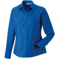Ladies' Ls Pure Cotton Easy Care Poplin Shirt