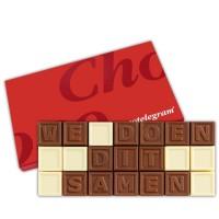 Chocolade letters teksten