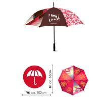 Paraplu met eigen ontwerp opdruk