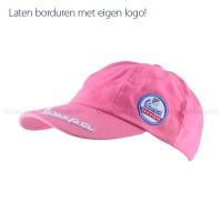 Cap met geweven badge