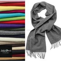 lamswol sjaal borduren