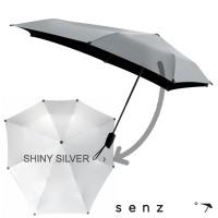 Senz Stormparaplu Mini-ZILVER