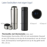 Thermosfles met thermometer