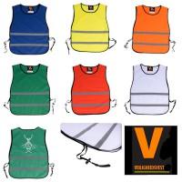 Trainingshesje oranje, geel, rood, wit, blauw, groen.