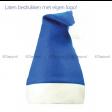 blauwe kerstmuts bestellen