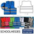 schoolhesjes in diverse kleuren